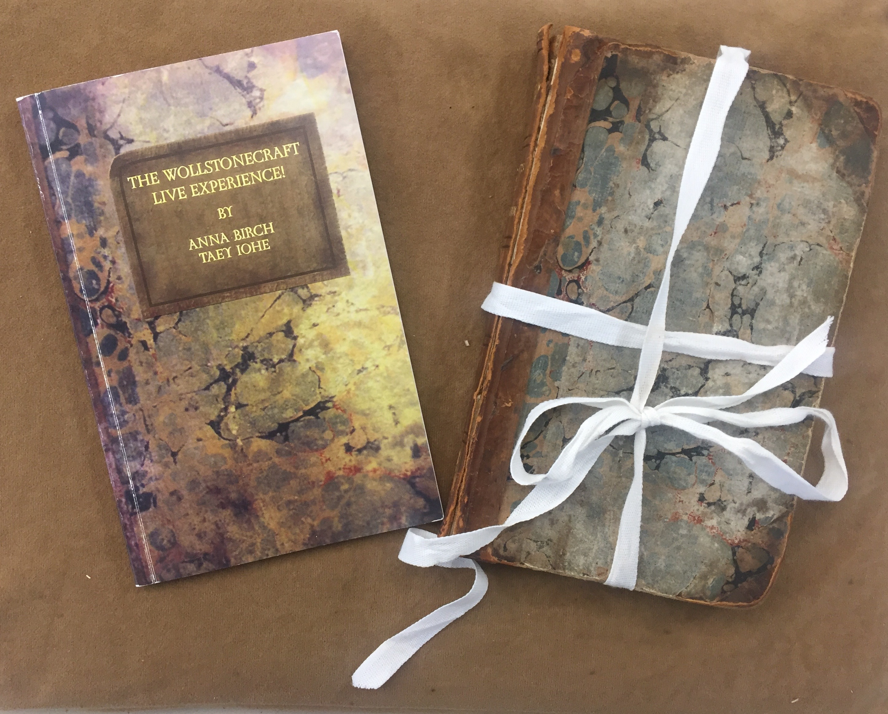 "'A Vindication of the Rights of Woman' ( 1792) paired with ""The Wollstonecraft Live Experience!' (2010) limited edition art book by Anna Birch and Taey Iohe (2010)"